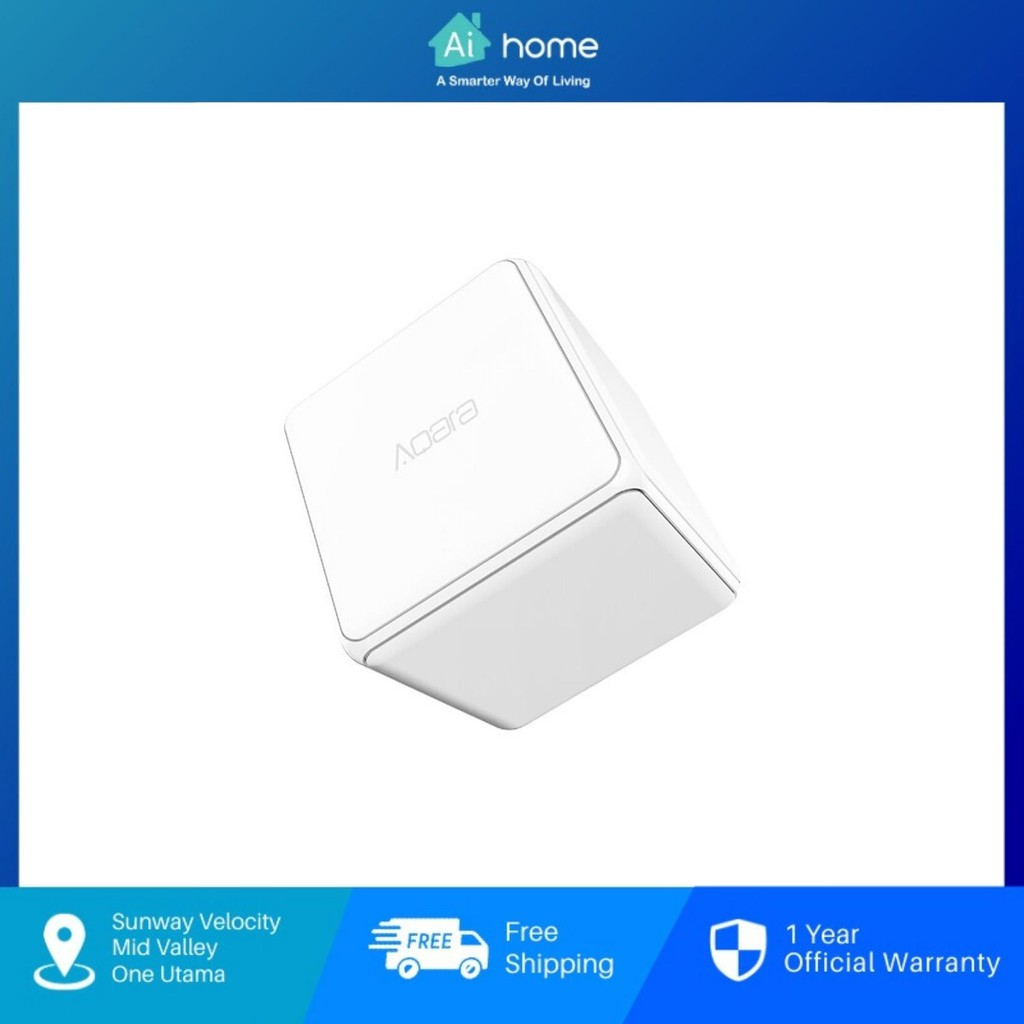 AQARA Magic Cube Controller [ Smart Switch ] - Malaysia Warranty | Controlled by Six Actions | CN Version | Smart Socket