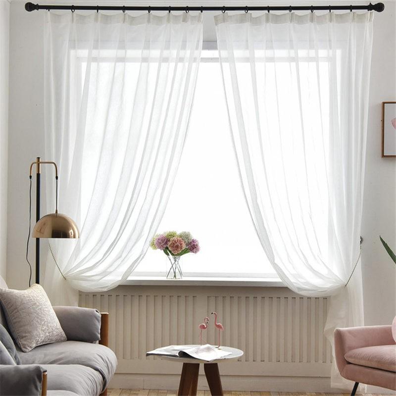 White Sheer Curtains For Living Room, Sheer Curtains For Living Room