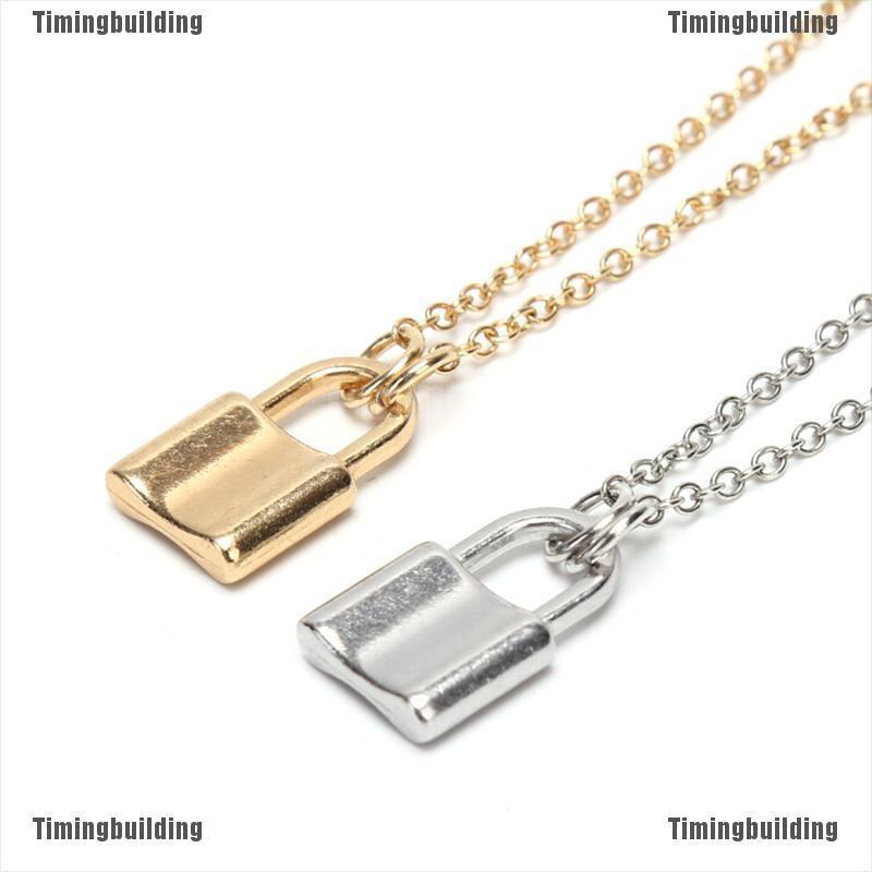 Lock Pendant Padlock Charm Necklace Chain Women Jewelry Gift Y Choker Punk