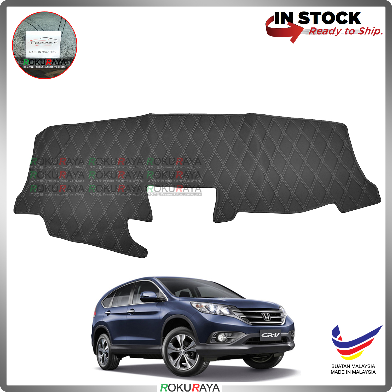 [BLACK LINE] Honda CRV CR-V RM RE 2013-2016 RR Dashboard Cover Leather PU PVC Black Car Accessories Parts