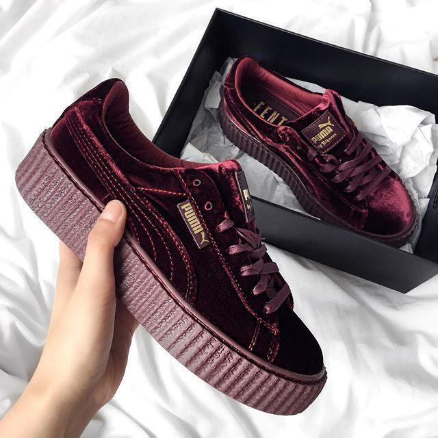 Original PUMA by Rihanna Velvet Creeper  Burgundy   9da4e87ed