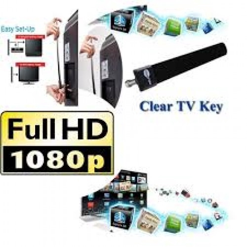 Clear TV Key HDTV Digital Indoor Antenna Stick As Seen on TV Free Signal Booster