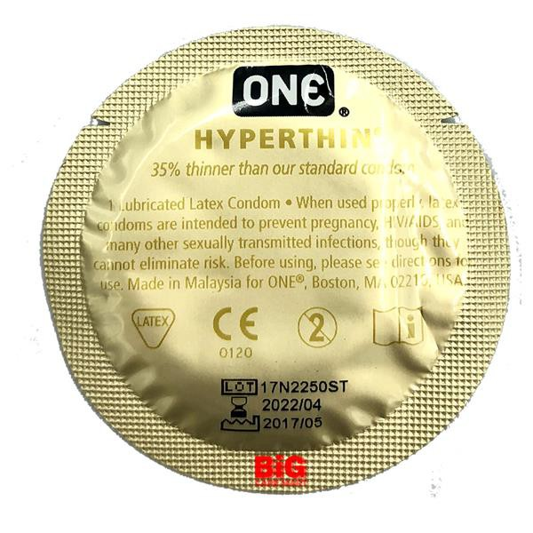 One Hyperthin Condoms Ultra Thin 3s + Natural Lubricant 50ml