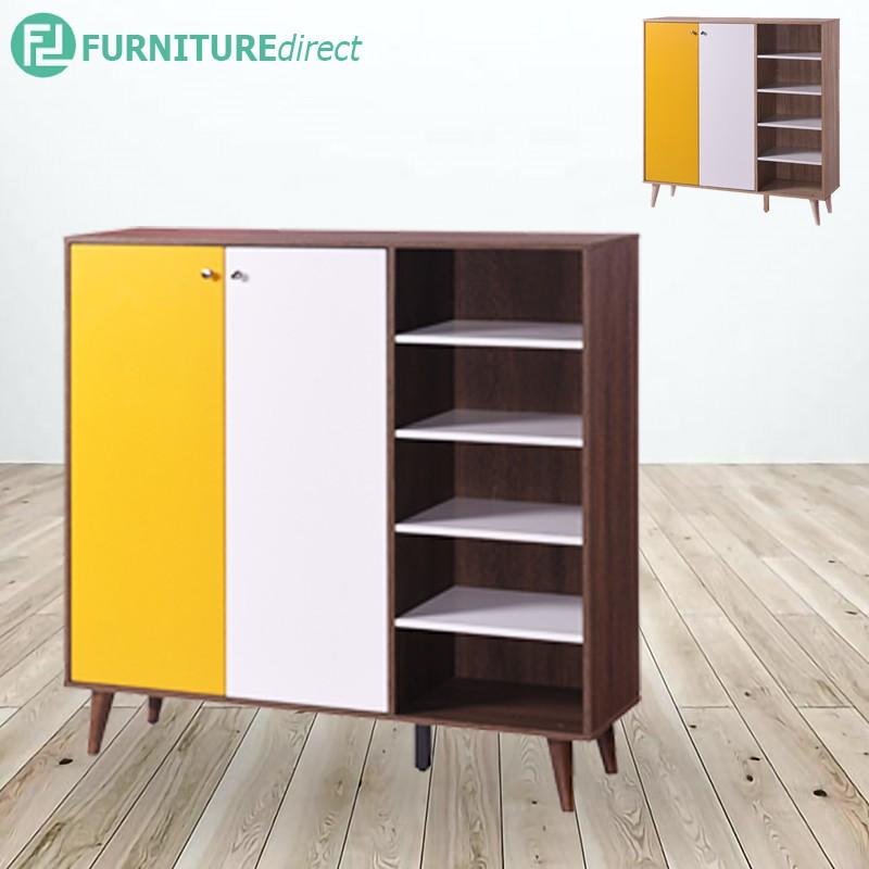 HENNAH 4 Feet shoe cabinet with 2 door/ rak kasut/ rak kasut kayu/ rak kasut ikea
