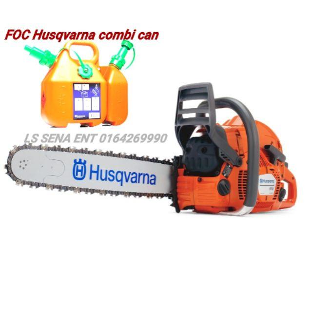 Husqvarna 570 chainsaw foc Husqvarna combi can