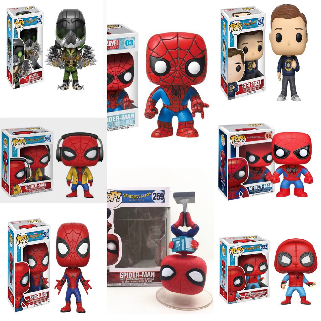 Sunny Spider Man Homecoming Peter Parker 224 Bobble-head Vinyl Figure Collectible Toy 10cm Toys & Hobbies