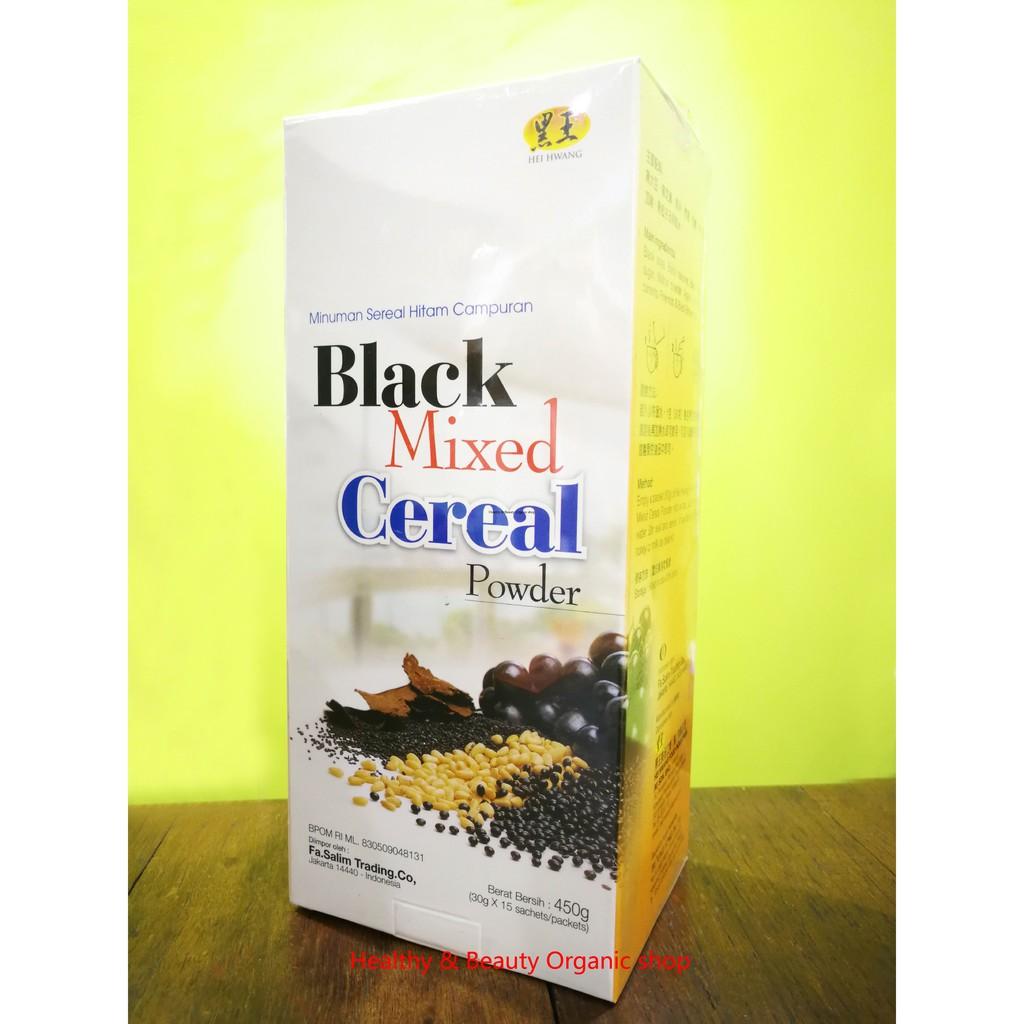 Hei Hwang Black Mixed Cereals (Low Sugar)15 sachets x 30g