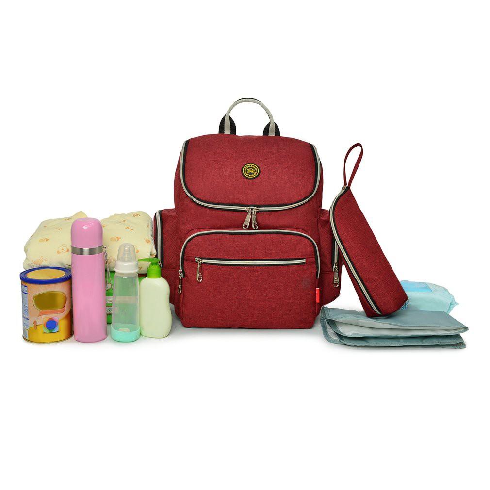 【Kiss】Baby Diaper Mommy Bag Travel Backpack With Stroller Straps Shoulder Bag