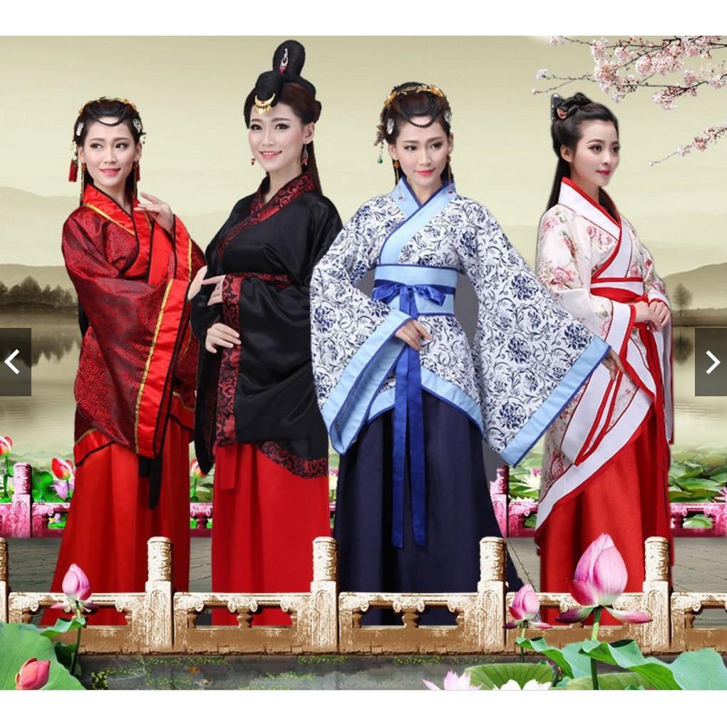 Tang Dynasty Chinese Women Ruqun Hanfu Suit Cosplay Infanta Dress Fairy Costume