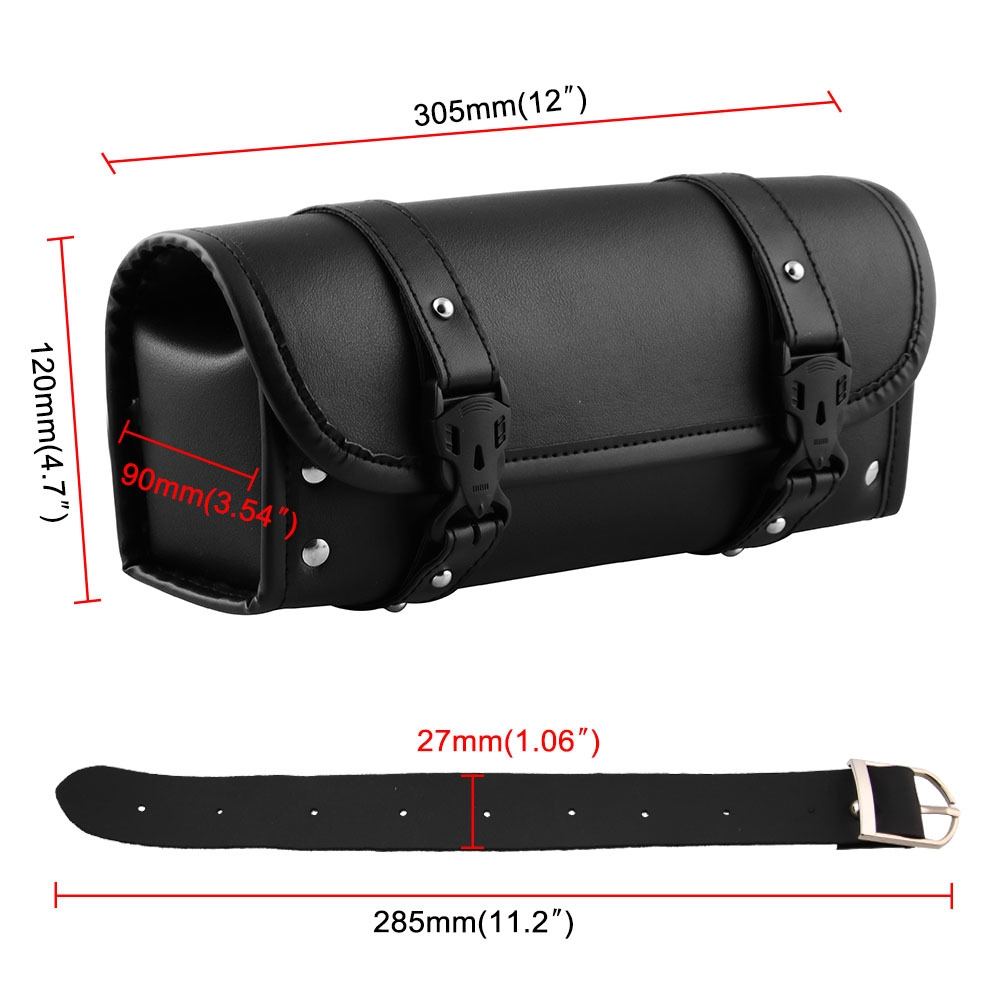 2PCS Mini Motorcycle PU Leather Saddle Bags Side Storage Tool Pouch Exquisite