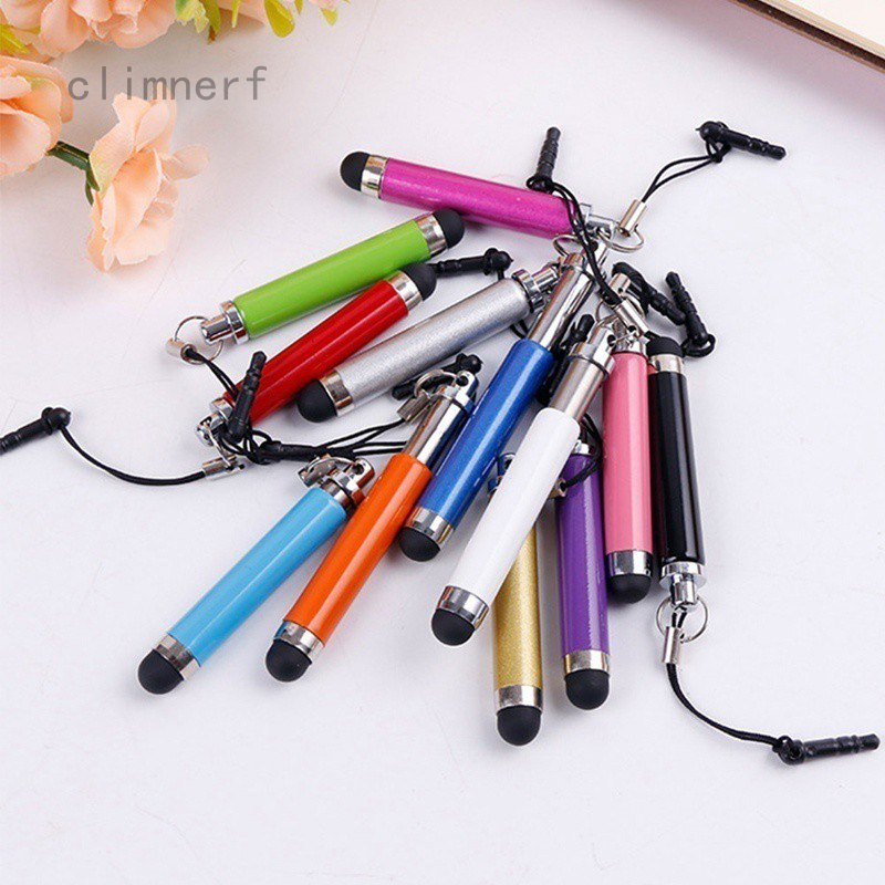Anti-Dust Plug For Cell Phone iPad Tablet TB 10x Metal Stylus Touch Screen Pen