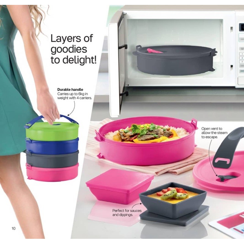 Tupperware Brand microwaveable Round Click To Go
