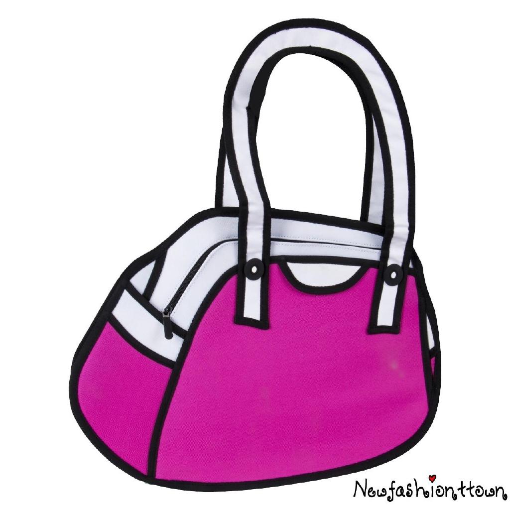 Áƒ¦twღwomen Fashion 3d Drawing Cartoon Bag Comic Messenger Handbag Wallet Shopee Malaysia