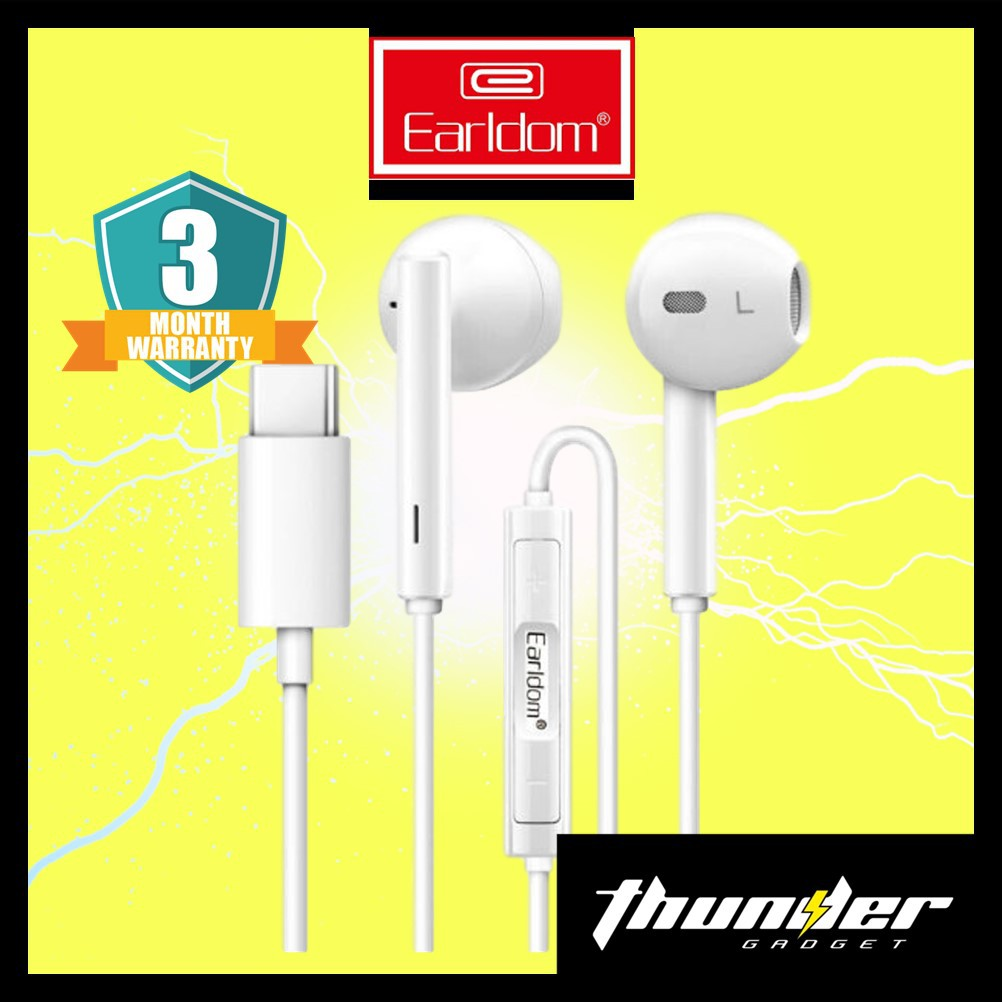 EARLDOM ET-E19 Type-C Earphone With Volume Connector