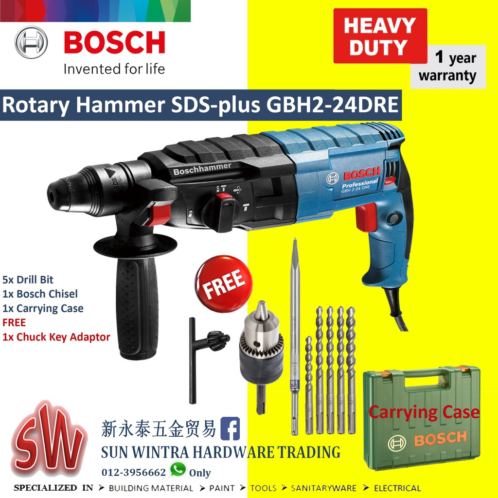Bosch GBH 2-28 DFV Pro Rotary Hammer Drill with SDS-Plus | Shopee Malaysia