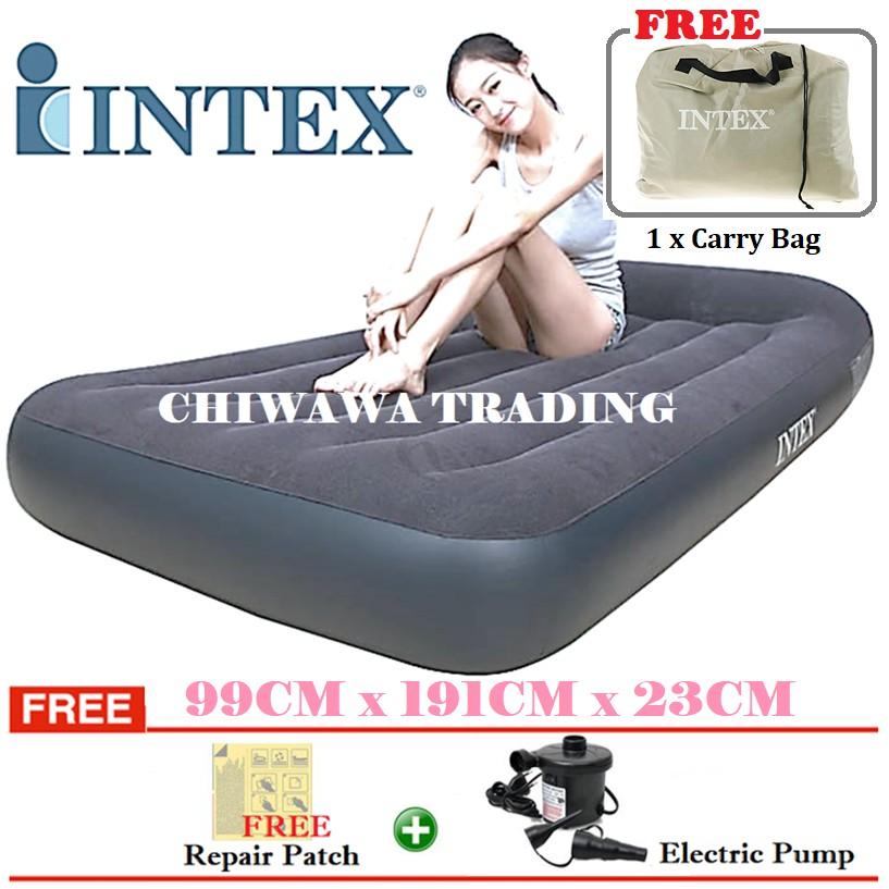 PROMOTION 64141  INTEX Inflatable Bubble Air Mattress Relax Massage Air Bed Sofa