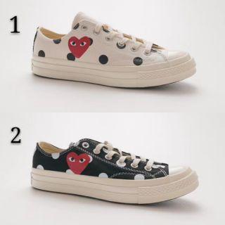 winkel klassiek beste waarde Comme des Garcons Play x Converse Polka Dot Low Top Black White Men Unisex  Women Sneakers Shoes