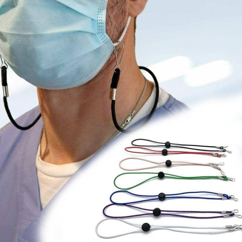 Rantai Gantung Topeng Muka Jenis Bulat Elastic Face Mask Adjustable Hanging Lanyard Ear Holder Neck Hang Rope with Hook