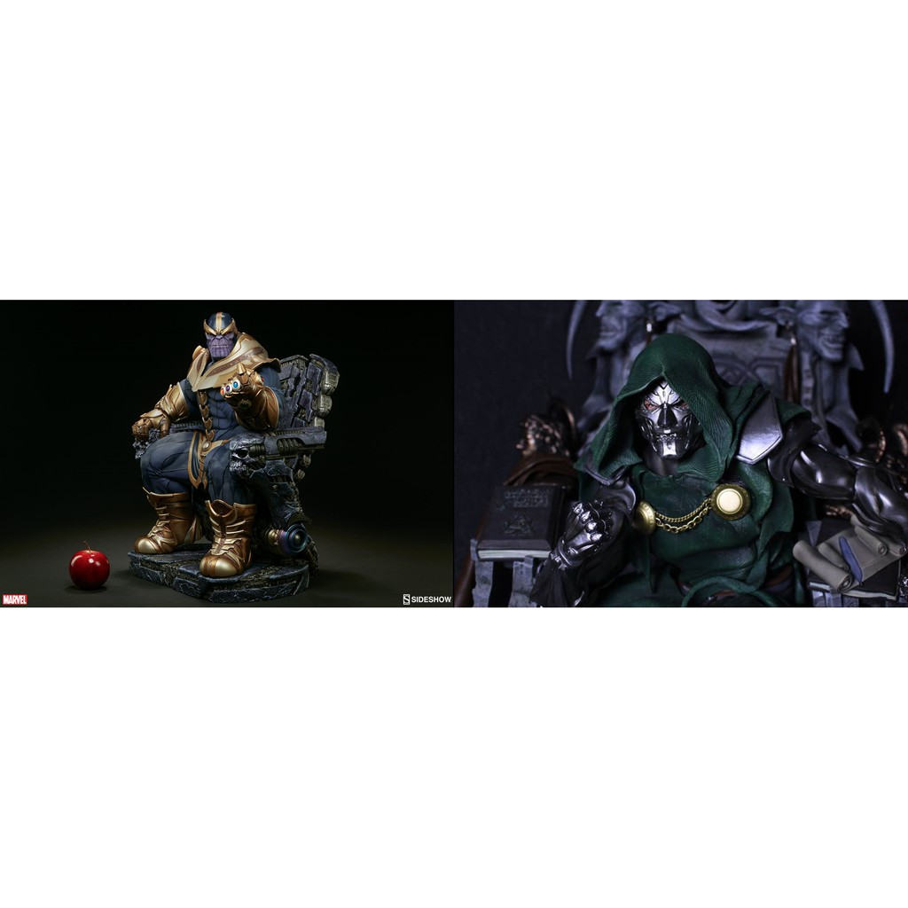 Sideshow Thanos on Throne & RCB Doom on Throne