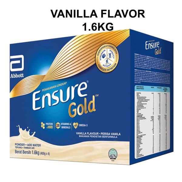 ENSURE GOLD COMPLETE NUTRITION VANILLA 1.6KG