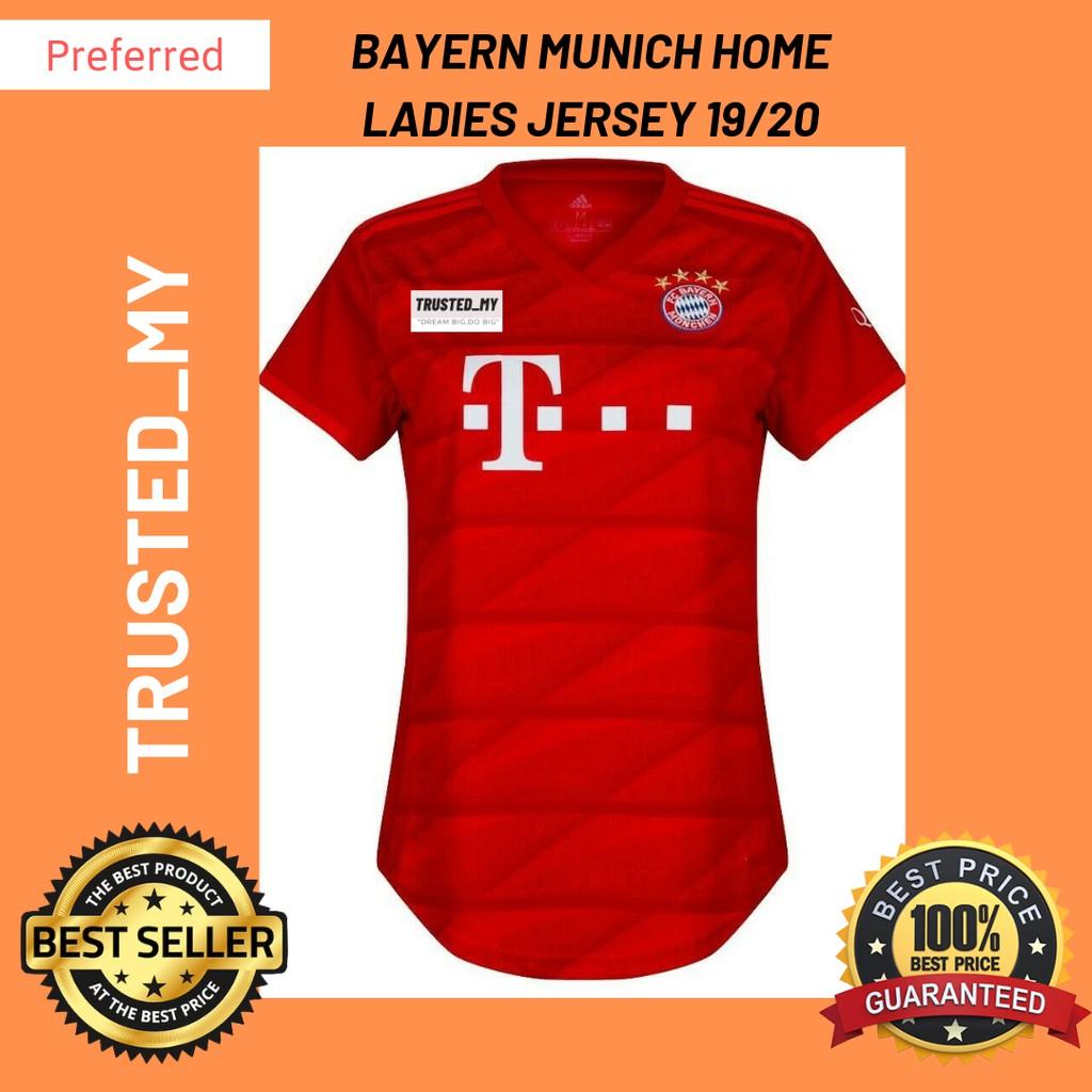 Ready Stock Bayern Munich 19 20 Home Women Jersey Shopee Malaysia