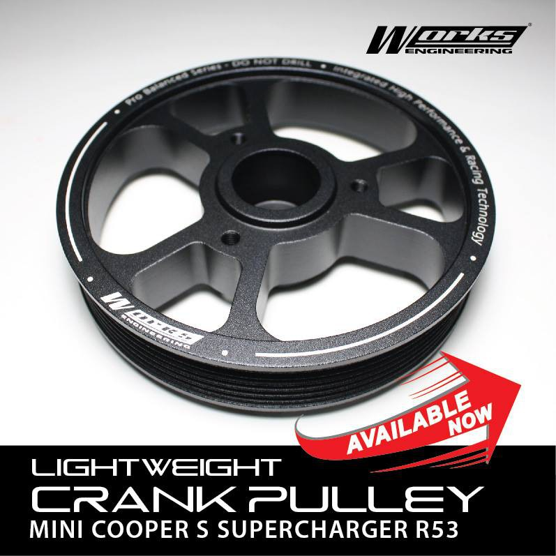 Works Engineering Lightweight Crank Pulley for Mini COOPER R53 Supercharger