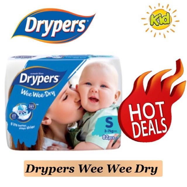 Drypers Wee Wee Dry MEGA s82 M74 / L62 / XL50 / XXL40)