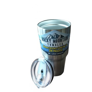 Rocky Mountain Tumbler 30 Oz Stainless Steel Keeps Ice