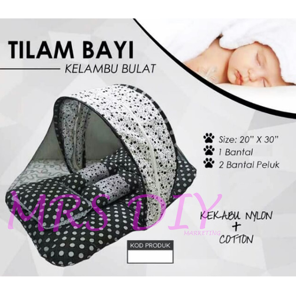 MRS DIY BABY MATTRESS / TILAM BABY / MOSQUITO NET BED / KELAMBU BULAT (SB)