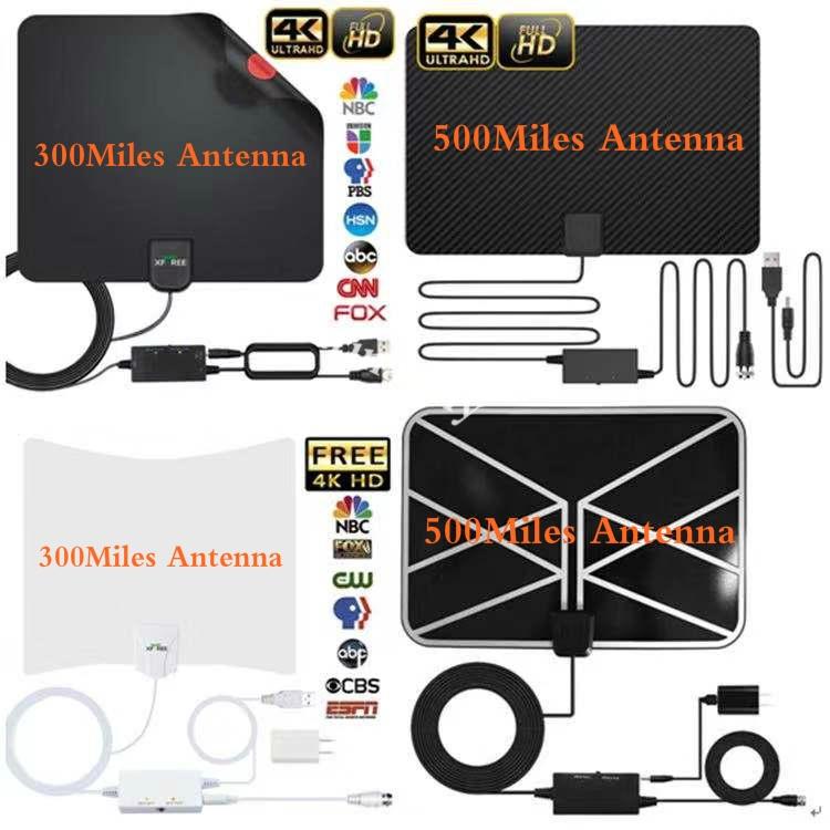READY STOCK Indoor Amplified 500 Mile Range TV Antenna ...