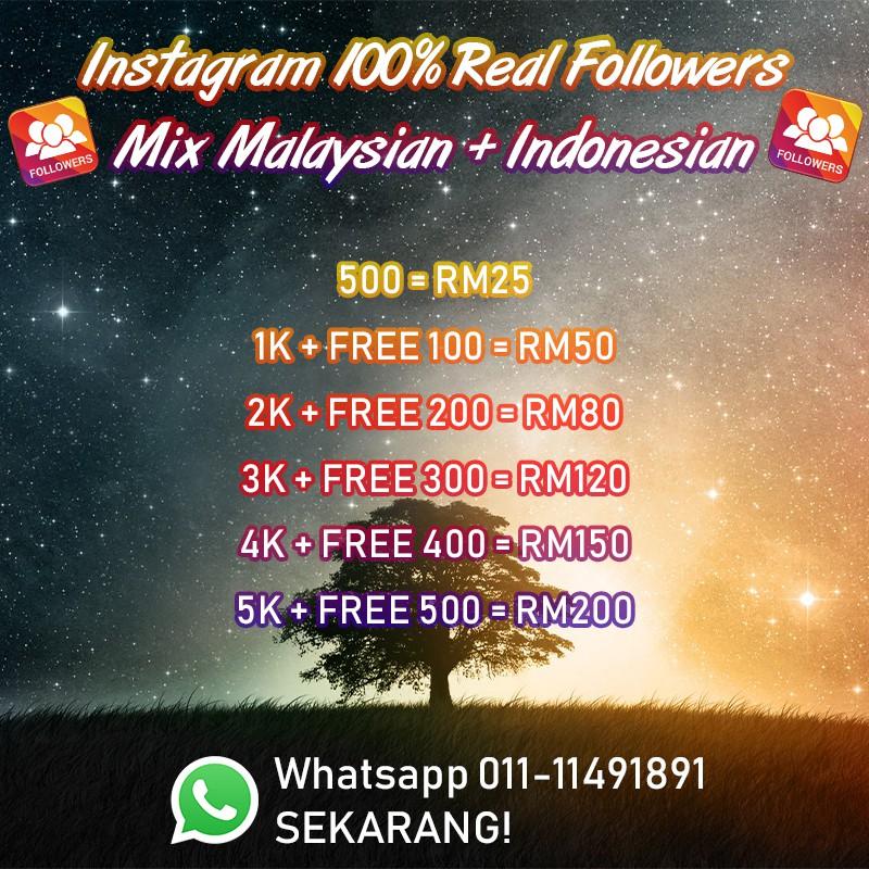 🔥 INSTAGRAM 100% REAL FOLLOWERS 🔥 [MALAYSIAN + INDONESIAN]