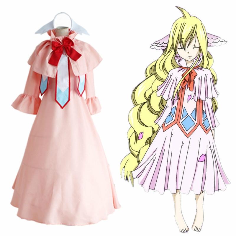 dcbf7681d74b9 Anime Fairy Tail Cosplay Costume Halloween Dress Fairy Tail Mavis Vermilion