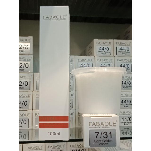 Fabaole color (Light Golden Copper.7/31) 100ml foc peroxide cream 100ml(Light Golden Copper.7/31)
