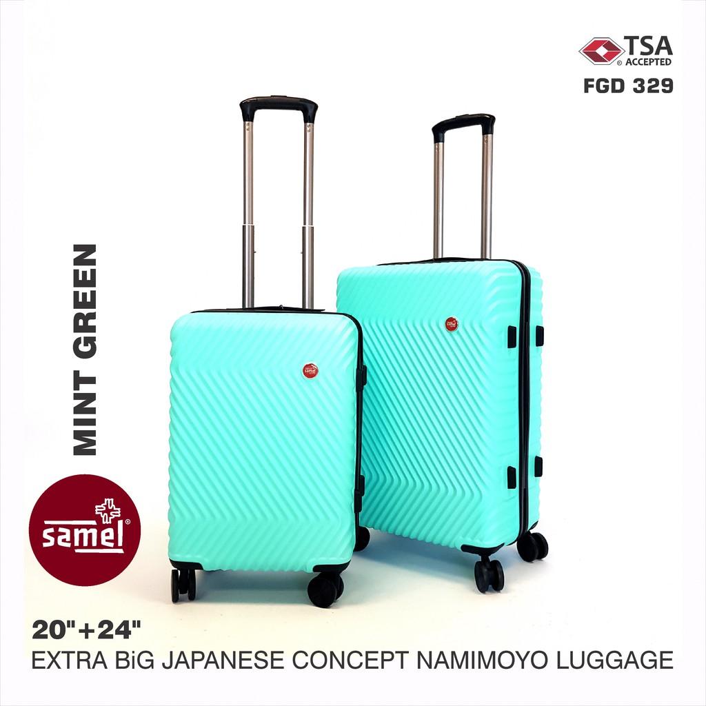 2 IN 1 SET FGD 329 EXTRA BIG JAPANESE CONCEPT NAMIMOYO LUGGAGE 20'' + 24''