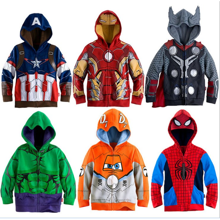 Boys Girls Hulk Kids Casual Hoodies Sweatshirts Pullover Cotton Clothing