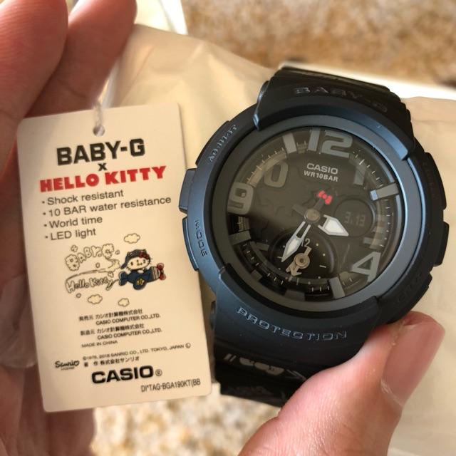 2c9d9603b Casio BGA-190KT-1BJR BABY-G HELLO KITTY LIMITED EDITION Women Watch  BGA-190KT-1B | Shopee Malaysia