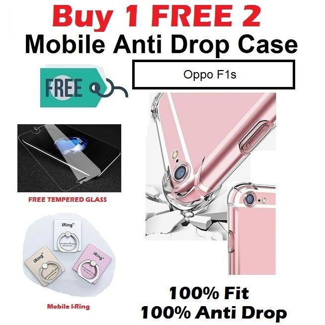 Oppo F1s Anti Drop Rubber Case ( BUY 1 FREE 2 )