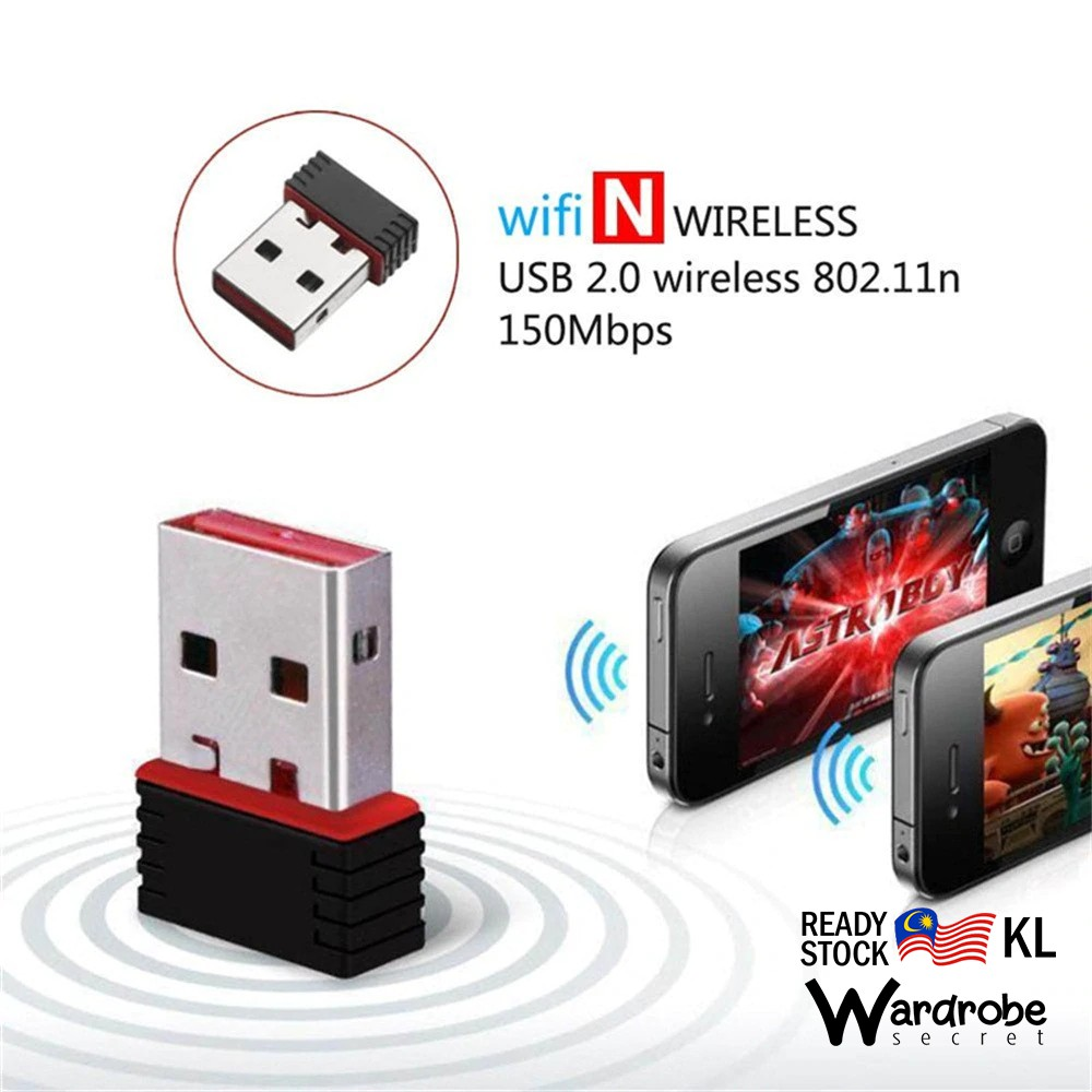 Wireless Mini USB Wifi Dongle 802 11n 150Mbps Wifi Network Adapter for  Windows Linux PC