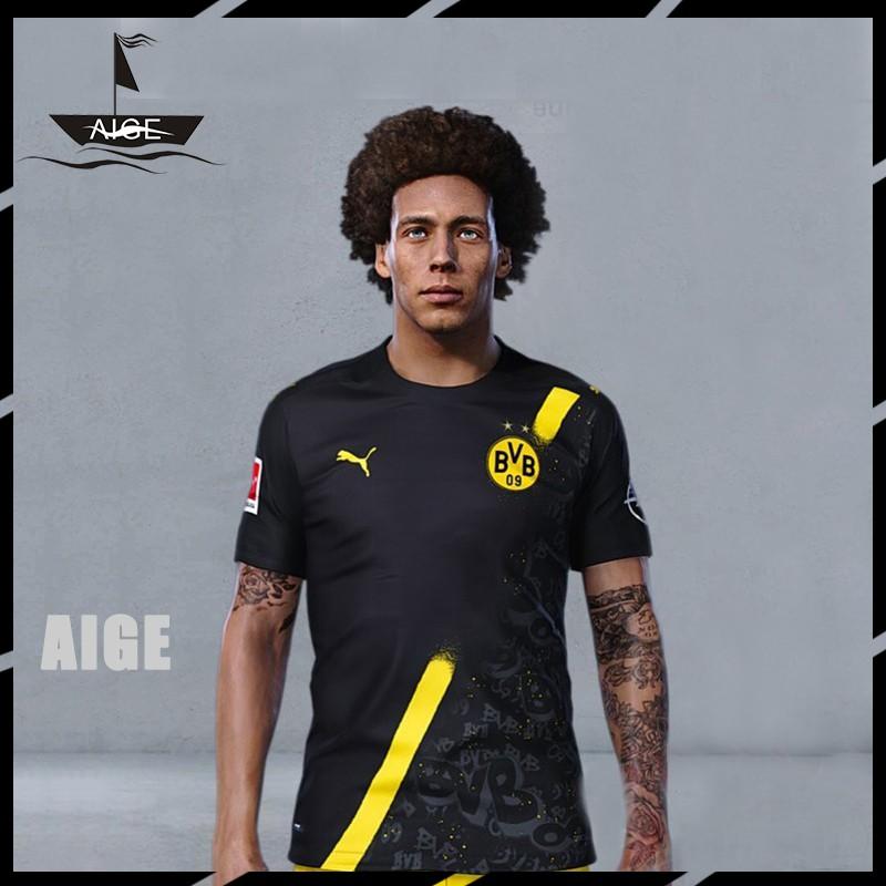 Aige 20 21 Bvb Dortmund Away Jersey Football Jersey Short Sleeve Top Men Soccer Tshirt 20 21 Shopee Malaysia