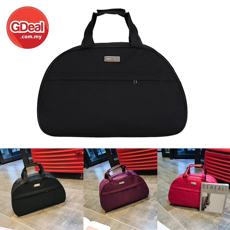 GDeal Luggage Hand Carrier Large Capacity Solid Colour Unisex Travel Leisure Waterproof Fitness Clothes Duffel Bag