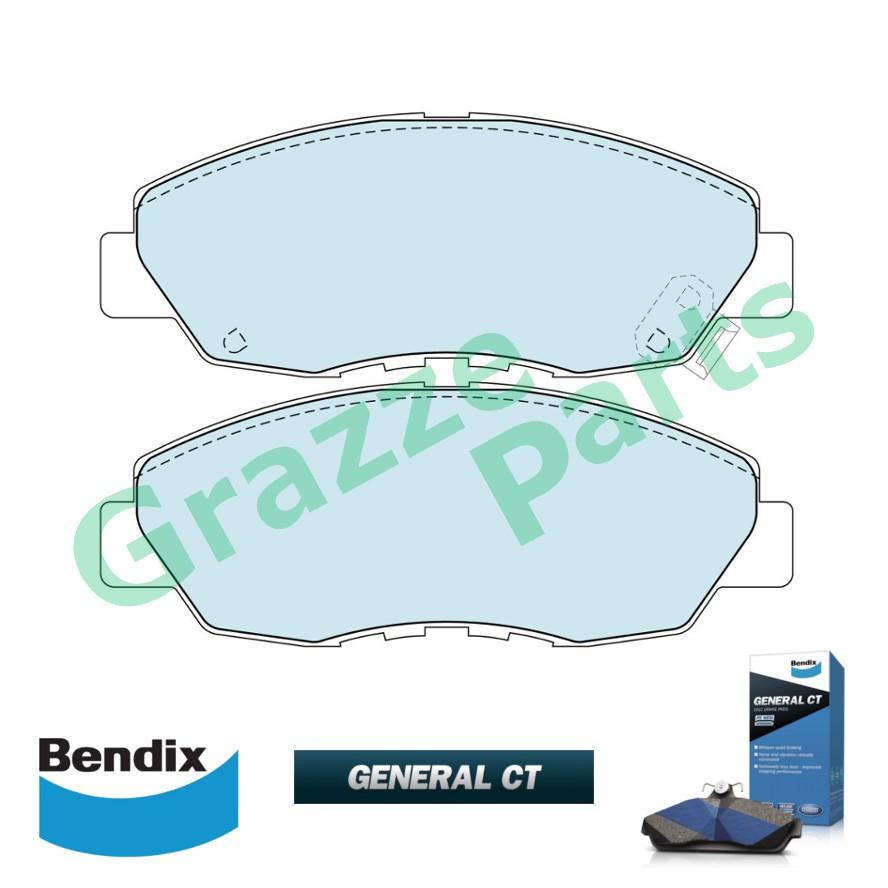 Bendix General CT Disc Brake Pad Front for DB1191 - Honda Accord SV4 S84 2.2