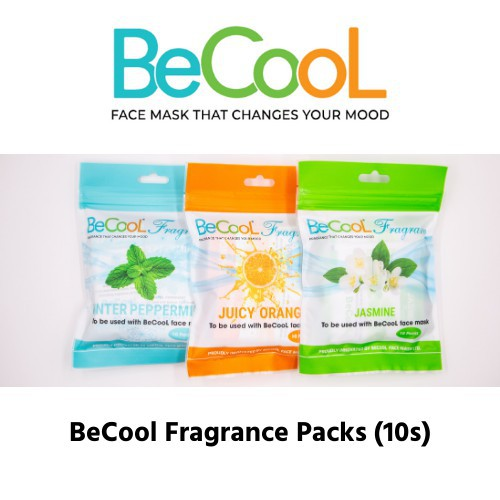 BeCool Fragrance Use with BeCool Agion® Antimicrobial Face Mask with Scent Pouch (READY STOCK)