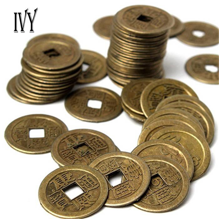 IVY 10Pcs Chinese Fortune Coin Oriental Emperor Money Set Hole Decor