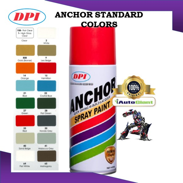 ANCHOR SPRAY PAINT STANDARD COLOR 400ML (V1)