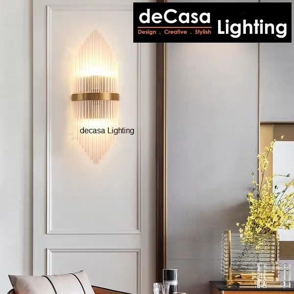 Decasa S Size Modern Glass Wall Light Indoor Decorative Wall Lamp Bedroom Bedside Lighting Modern White Retro Wall B2002