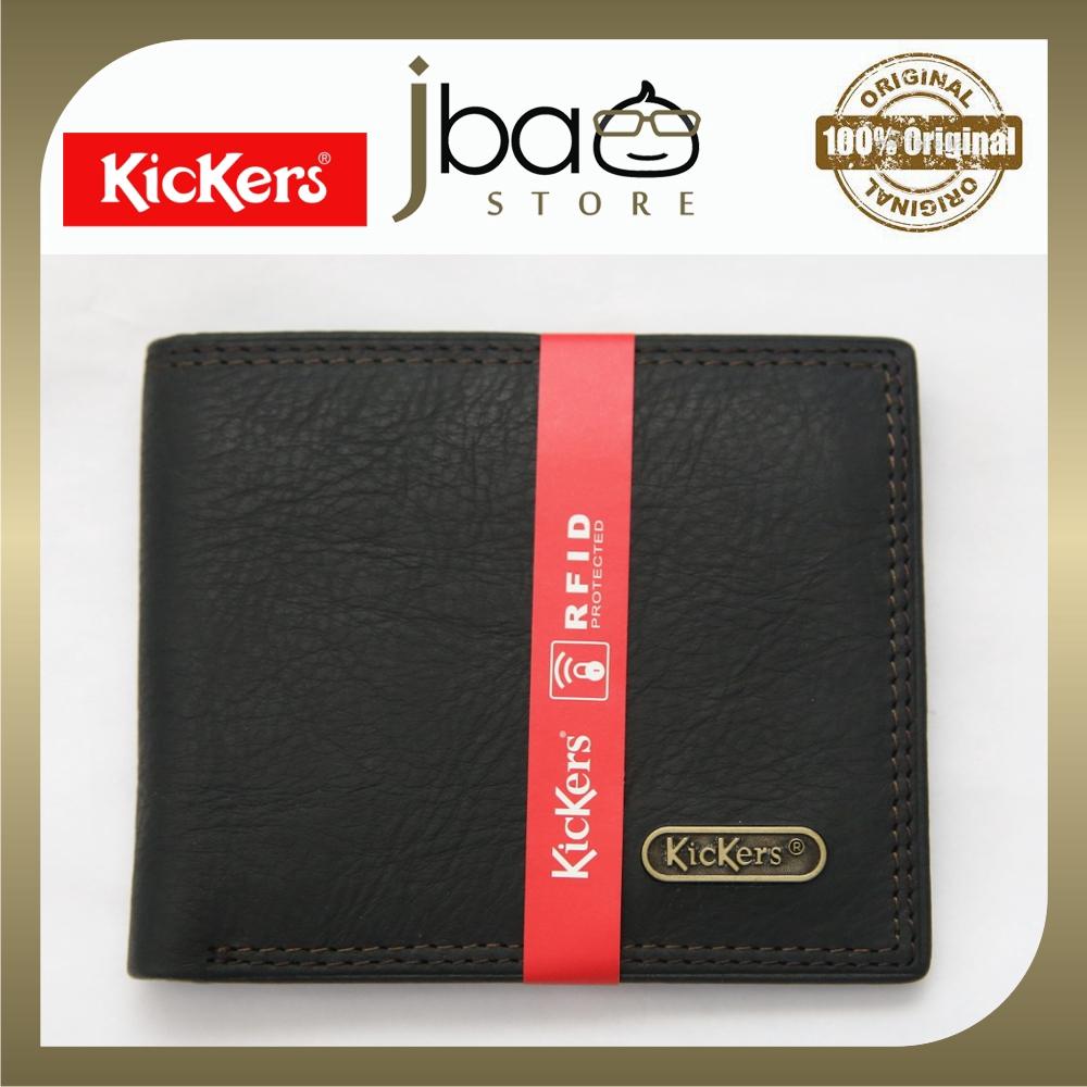 Kickers KDKI-N-50831 RFID SECURE Protection Men Genuine Leather Card Wallet Phone Pin Gift