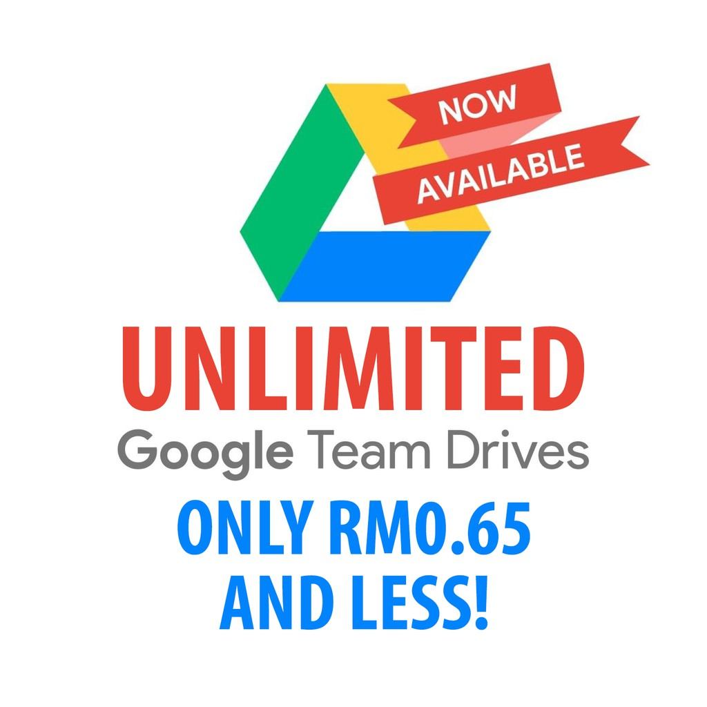 [PROMO] Google Team Drives (Unlimited, Lifetime, Use Existing Gmail ID) 🔥