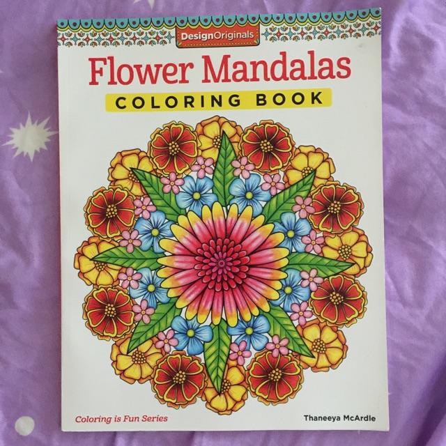 Adult Coloring Book Flower Mandalas