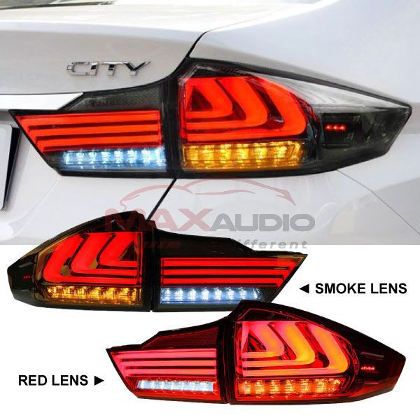 [FREE Gift] HONDA CITY GM6 2014 - 2019 Lexus Style LED Light Bar Tail Lamp with Sequential Signal (Pair)