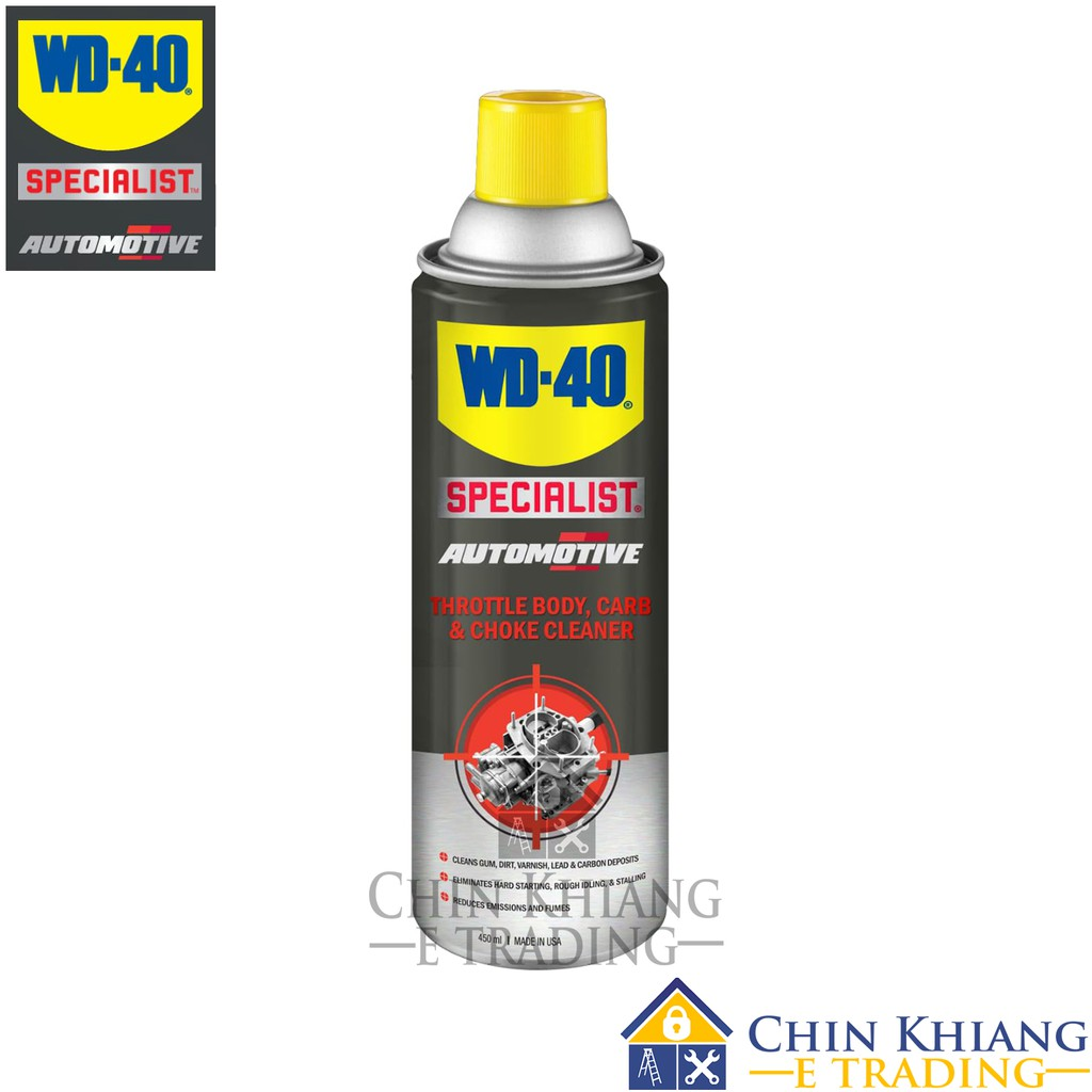 WD40 TB450 Automotive Throttle Body, Carb & Choke Cleaner 450ml